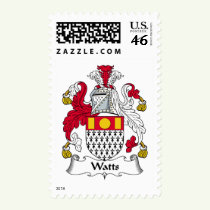 Watts Family Crest Stamps