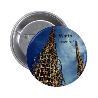 Watts Towers, Los Angeles 2 Inch Round Button