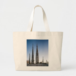 Watts Towers Los Angeles Large Tote Bag