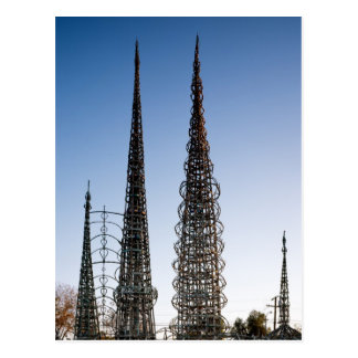 Watts Towers Los Angeles Postcard
