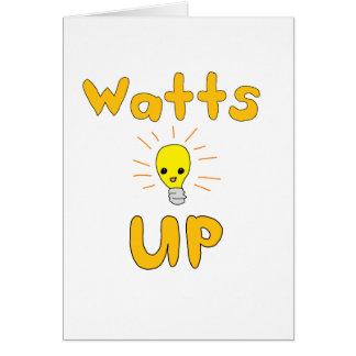 Watts Up Greeting Card