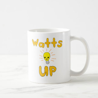 Watts Up Classic White Coffee Mug