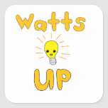 Watts Up Square Sticker