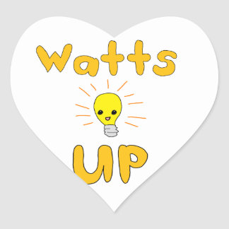 Watts Up Heart Sticker