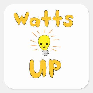Watts Up Square Sticker