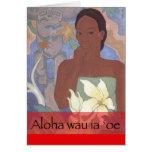 """""""Wau tarjeta hawaiana de la hawaiana del el día de"""