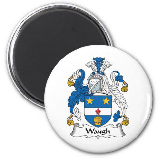 Waugh Family Crest 2 Inch Round Magnet