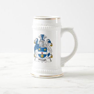 Waugh Family Crest Beer Stein