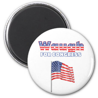 Waugh for Congress Patriotic American Flag 2 Inch Round Magnet
