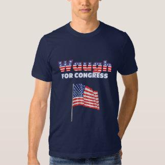 Waugh for Congress Patriotic American Flag T Shirt