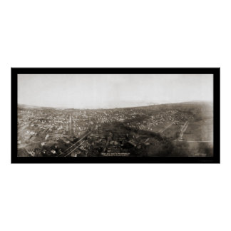 Waukegan IL Aerial Photo 1908 Poster