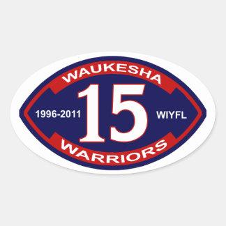 Waukesha Warriors Oval Sticker