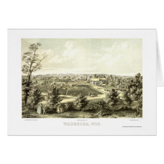 Waukesha, WI Panoramic Map - 1857 Card