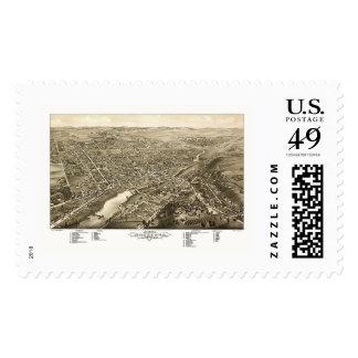 Waukesha, WI Panoramic Map - 1880 Postage