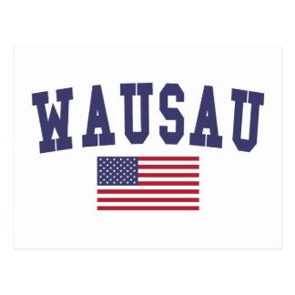 Wausau US Flag Postcard