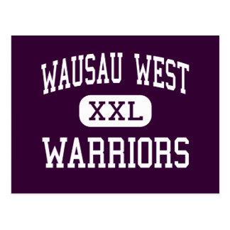 Wausau West - Warriors - High - Wausau Wisconsin Postcard