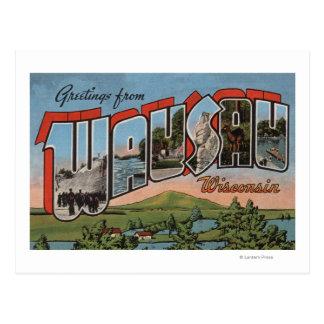 Wausau, Wisconsin - Large Letter Scenes Postcard