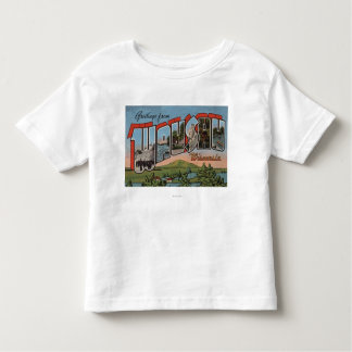 Wausau, Wisconsin - Large Letter Scenes Toddler T-shirt