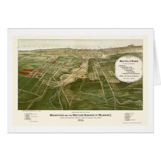 Wauwatosa, WI Panoramic Map - 1892 Card