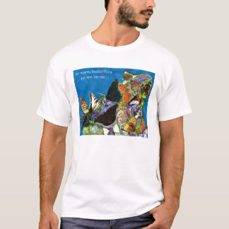 wave_23_bfly, so many butterflies to see on me,... T-Shirt