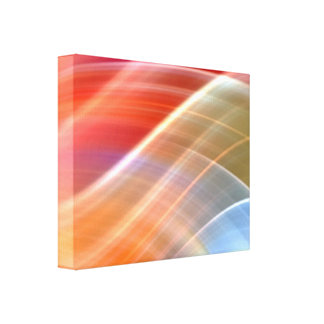 wave-677899 BRIGHT COLORFUL DIGITAL SWIRLS BACKGRO Canvas Print