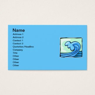 WAVE 803 BLUES OCEAN SURFING SURF CRASHING SPORTS BUSINESS CARD