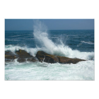 Wave action at Pemaquid Point Maine Photo