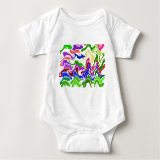 Wave Artistic Sensual TEMPLATE easy add TEXT IMAGE Baby Bodysuit