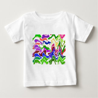Wave Artistic Sensual TEMPLATE easy add TEXT IMAGE Baby T-Shirt