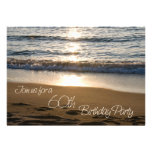 Wave at Sunset 60th Birthday Party Invitation Card