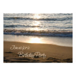 Wave at Sunset Birthday Party Invitation Card