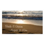 Wave at Sunset Wedding Favor Tags Double-Sided Standard Business Cards (Pack Of 100)