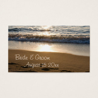 Wave at Sunset Wedding Place Setting Cards