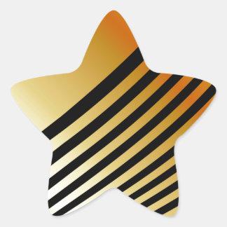 wave background star sticker