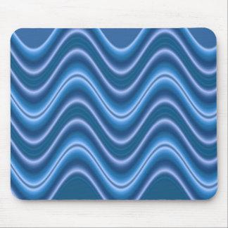 wave blue mouse pad