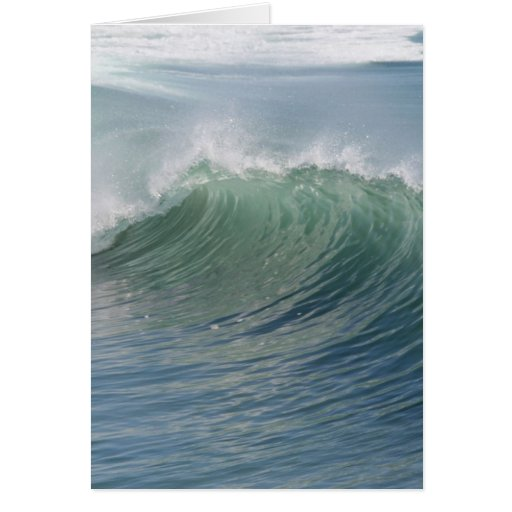 Wave break greeting card
