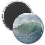 Wave break refrigerator magnet