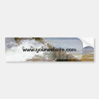 Wave Breaker, Wooden Stakes, Ocean Sea Bumper Sticker