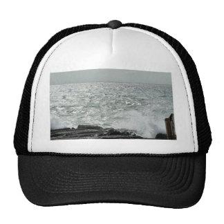 Wave Breaking On Oceans Beach Trucker Hat