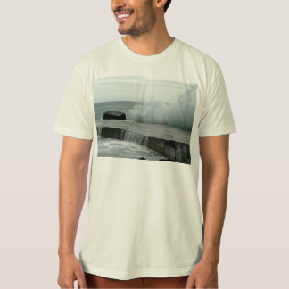 Wave Breaking On Pier T-Shirt