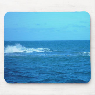 Wave Breaking On Reef At Hillaries Mousepads