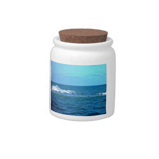 Wave breaking on reef candy jars