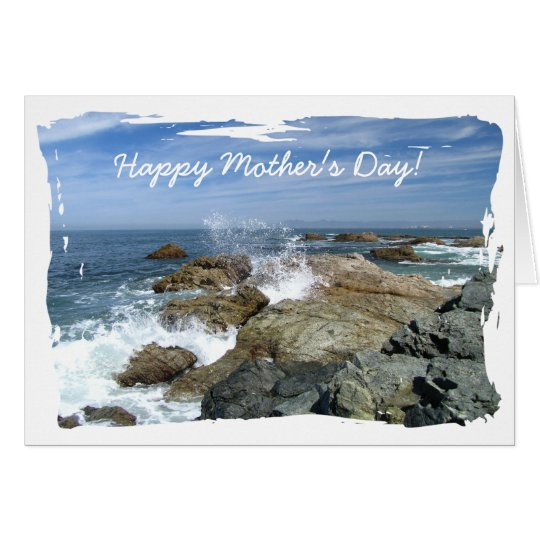 Wave Burst; Happy Mothers Day Card