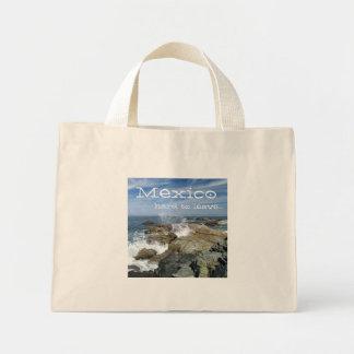 Wave Burst; Mexico Souvenir Mini Tote Bag