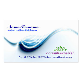 wave business card design