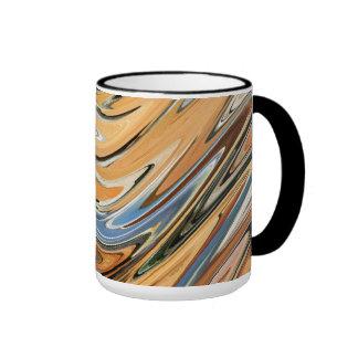 Wave  by rafi talby ringer coffee mug