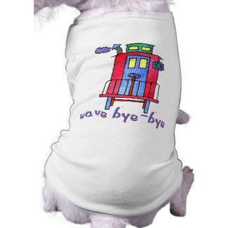 wave bye-bye Caboose Pet Clothing