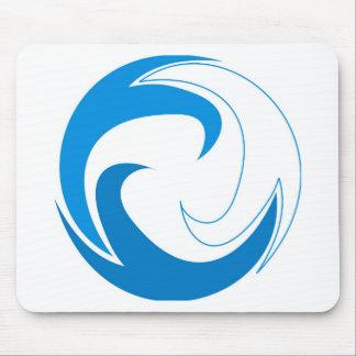 Wave Circle Mouse Pad