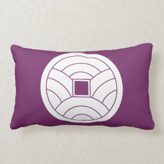 Wave coin lumbar pillow