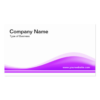 Wave Contour - Neon Purple Double-Sided Standard Business Cards (Pack Of 100)